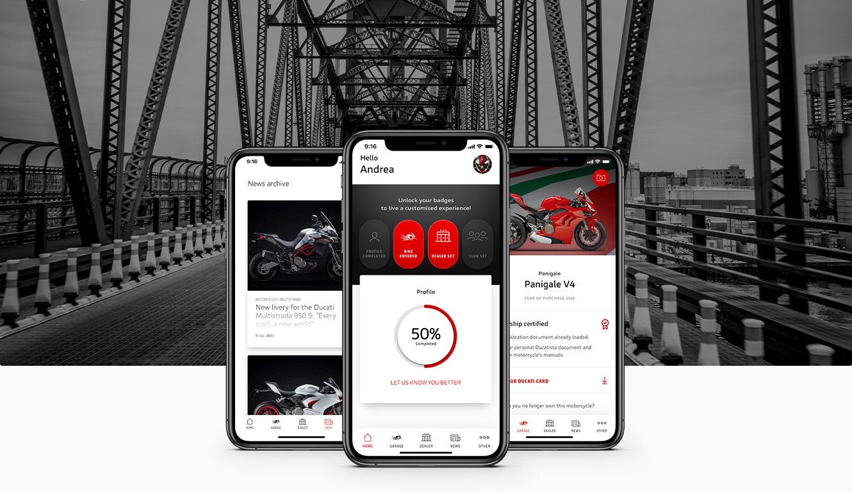 Chegou a MyDucati App: o mundo Ducati sempre à mão